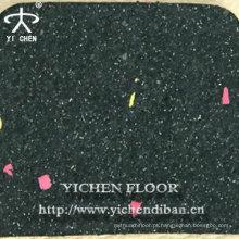 tapetes de ginástica de telhas de borracha usados ao ar livre