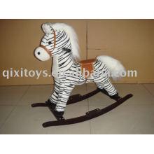 cheval à bascule en peluche (zèbre), childern animal rider jouet