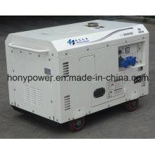 Générateur diesel silencieux simple refroidi par air portatif de cylindre de 5kw5kVA