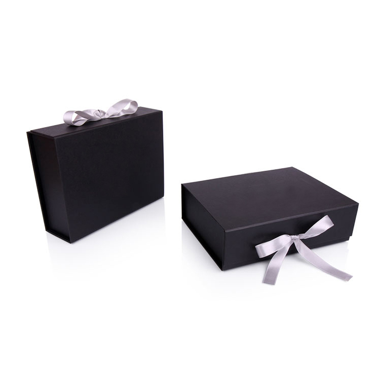 Luxury Black Presentation Folding Wedding Dress Gift Box