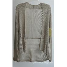 Casaco de lã com mangas compridas Opean Patterned para senhoras