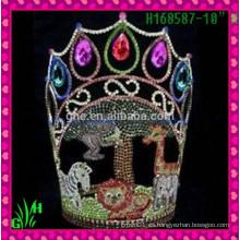Corona al por mayor del Rhinestone de los nuevos diseños, Tiara de los surtidores de China