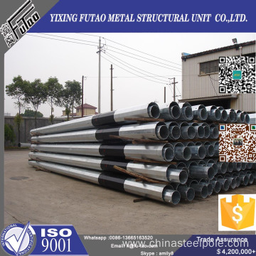 132Kv steel transmission pole for electric