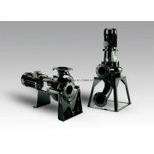 Pompe d'égout sèche horizontale ou verticale
