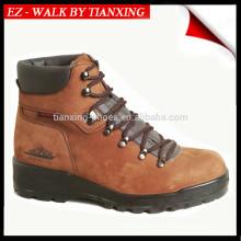 Sapatos de segurança de couro genuíno com dedo de pé de aço