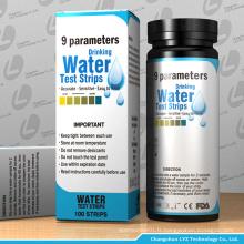 kit de test de bandelettes de test d'eau potable pour liquide