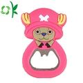 Cute Character Silicone Custom Logo Bottle Opener Magnet