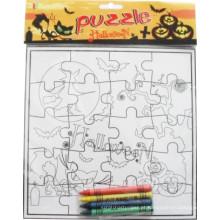crianças colorindo pintura quebra-cabeças
