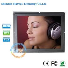 1024X768 résolution 12,1 pouces 4: 3 écran LCD à cadre ouvert avec connecteur VGA