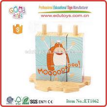 EN71 2015 juguetes educativos de madera más nuevos y calientes del rompecabezas del cubo de la venta