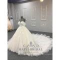 Princesa árabe de luxo Noble vestido de baile sem mangas vestido de casamento vestido de noiva 2018