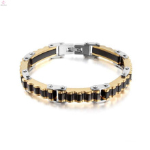 Gold and black bicycle chain jewelry, mens wear bracelet jewelry