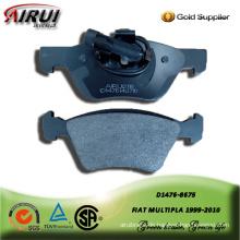 SEMI-METALLIC BRAKE PAD FOR FIAT MULTIPLA 1999-2010