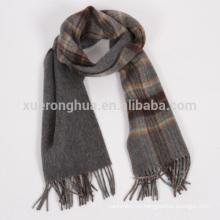 Bufanda de doble cara hecha a mano 100% de lana