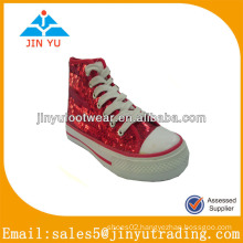 2014 new style red canvas shoes made by JY
