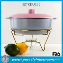 Popular Home Restaurant Cookware Popular Home Restaurant Oval Chafing Dish con soporte de metal