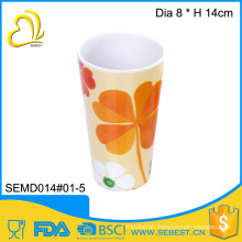 cheap Autumn design round plastic tumbler drinking cup