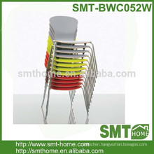 2016 New Design Stackable Bentwood Dining Chair With Steel Legs