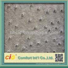 Fashion Metallic Emboss Woven Ostrich Bag Sofa Leather