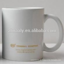 Weiß Steingut Kaffeetasse