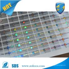 Amostra grátis adesivo de holograma personalizado de alta qualidade com laser