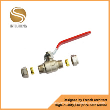 Steel Handle Brass Ball Valve (TFB-030-04)
