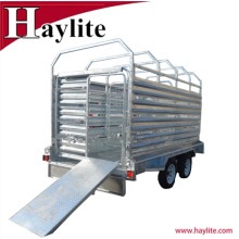 Remolque de ganado de remolque de acero galvanizado resistente del ganado para las ventas