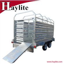 Remorque en acier galvanisée résistante de bétail de remorque de bétail en ventes