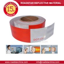 Brancos e vermelhos DOT-C2 adesivos corpo veículo reflexivo