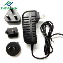 Adaptador de corriente de enchufe de viaje intercambiable 12V1.5A 18W