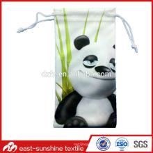 Hot Sale Panda imprimé Micorfiber petit sac pour lunettes