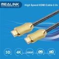 Câble HDMI 1.4 2.0 plaqué or tressé en nylon