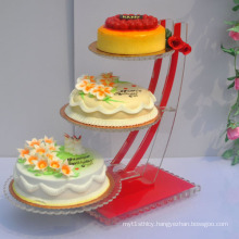 Durable Perspex Display Holders for Cakes, POS Acrylic Display