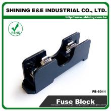 FB-6011 Para 6x30mm Fusível de vidro Trilho montado 600V 1 pólo 15A Bloco de fusíveis