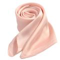 70 * 70 cm usine pas cher vente femmes musulman qualité carrée uniforme Polyester imité écharpe en soie