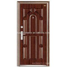 Portes d'entrée externes, porte blindée en acier sécurisé