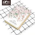 Cahier à couverture métallique mignon de style animal des merveilles personnalisé