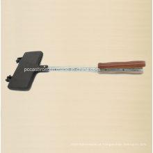 Dobrado Preseasoned Cast Iron Cake Molde clip com alça