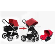 Flexibler Kinderwagen 3-in-1 mit Aluminiumrohren Qualität gesichert