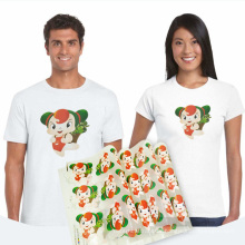 Angelacrox Custom Iron On Label Sticker Transfer Printing Plastisol Heat Transfers for T-shirt