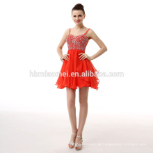 Großverkauf-Chiffon- elegantes rotes Dame Wedding Dress Formales Abend-Kleid