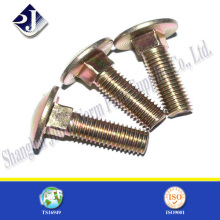 Asme Grade 5 Carriage Bolt with Yellow Zinc