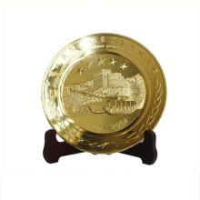 Kundengebundene Goldbronze Silber Metallplatten Bali Souvenir