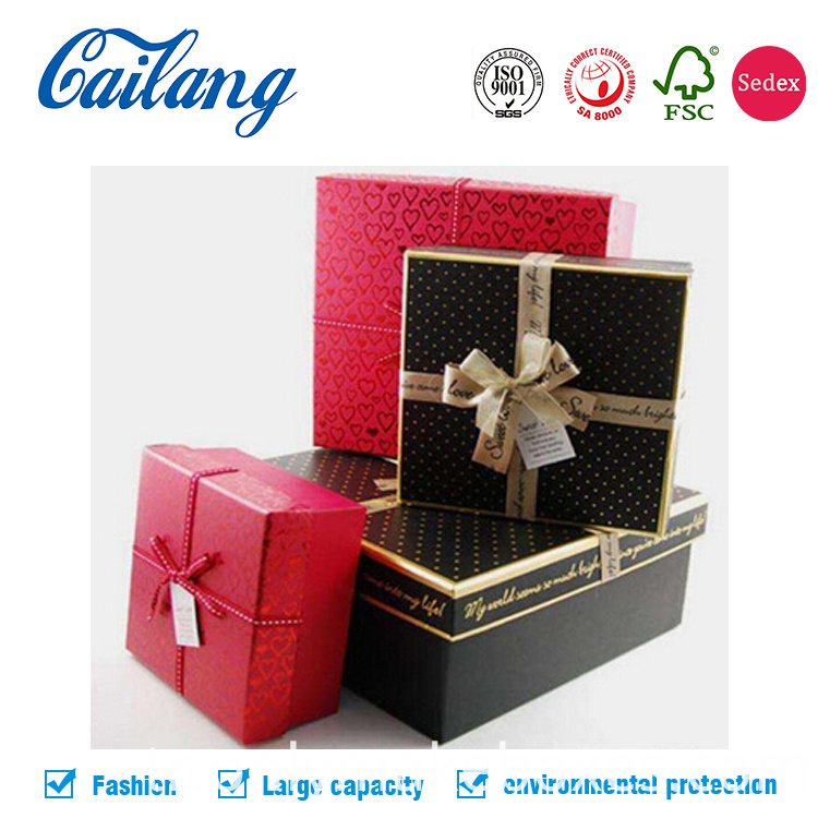 two pieces festival gift packaging box with lid