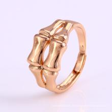 12235 Nova chegada simplesmente bem senhoras jóias osso em forma de anel de dedo banhado a ouro