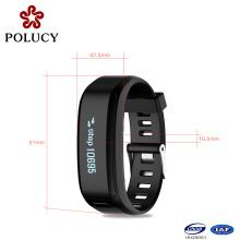 Últimos diseño pulso elegante pulsera impermeable reloj Bluetooth