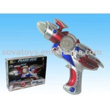 905990623 brinquedo de plástico, tiro arma de brinquedo, B / O arma de espaço com luz e som