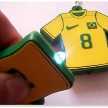 Porte-clés avec porte-clés promotionnels lumineux / menés