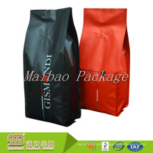 Food Grade Packaging Side Gusset One Way Valve Oem Design Customize Quad Sealing Coffee Packing Bags