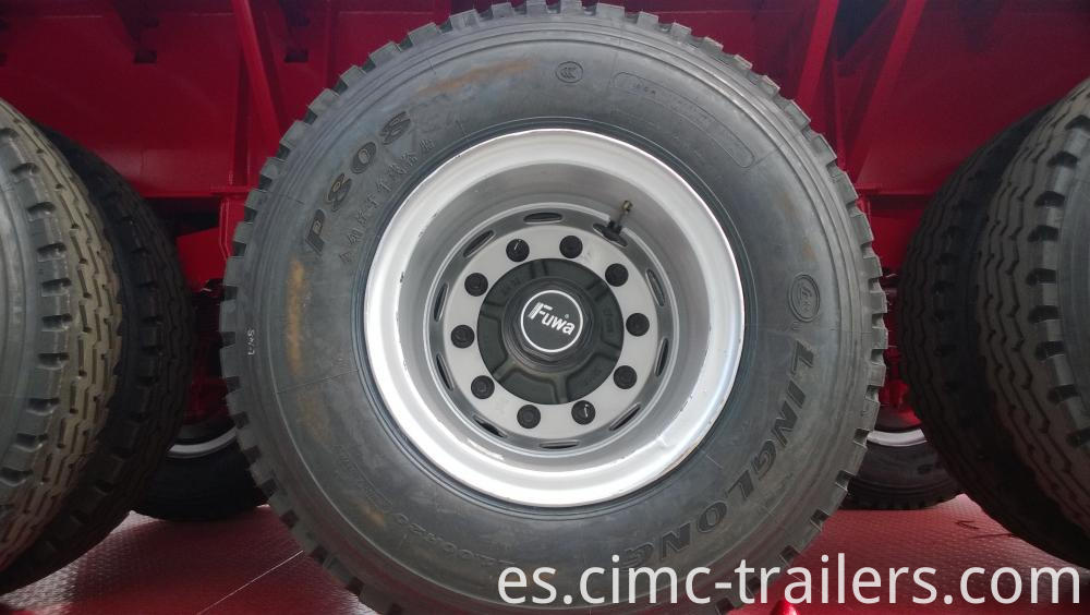 Tyre 40 Tri Axle Flatbed Semi Trailer